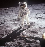 AS11-40-5903 (20 July 1969) --- Astronaut Edwin E. Aldrin, Jr.