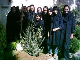 Saba Eno students in tree planting