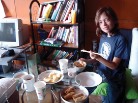 Our first breakfast in Shanghai