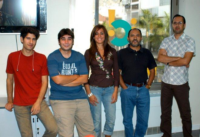 Parte del equipo de Tv Canaria