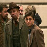 Mark Williams and Daniel Radcliffe