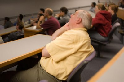 fall asleep at one or more meetings