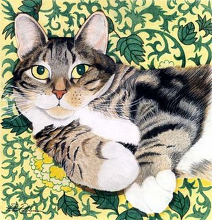 Cat Paintings by Peter Robinson