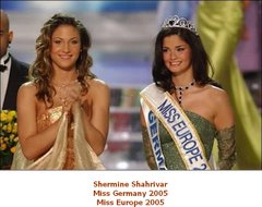 Shermin Shahrivar Miss Europe 2005
