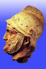 Persian Faces: Parthian Hellenstic Statue: Eshgabad Museum. Turkeminsitan