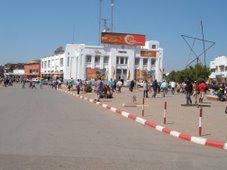 Lubumbashi, centre-ville économique et géographique  la place de la Poste centrale