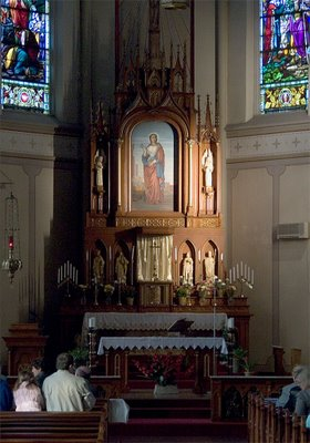 Saint Agatha Roman Catholic Church, in Saint Louis, Missouri - altar