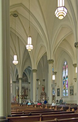Saint Agatha Roman Catholic Church, in Saint Louis, Missouri - nave