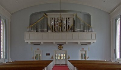 Organ loft at Saint Raphael Catholic Church, in Saint Louis, Missouri