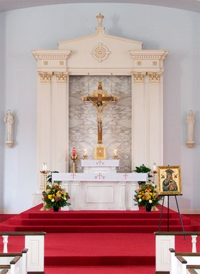 Sanctuary of Saint Raphael Catholic Church, in Saint Louis, Missouri