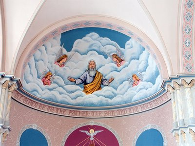 Apse in Saints Peter and Paul Church, in Waterloo, Illinois