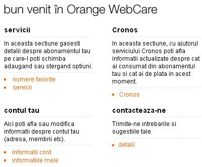 Orange Romania: WebCare