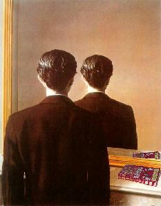 René Magritte's 'La Reproduction Interdit' (slightly altered)