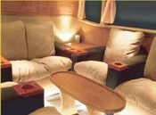 aeroline bus lower deck luxurious lounge