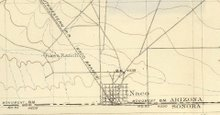 Naco, Arizona Topographical Map 1902