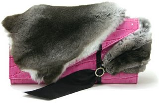 Pontine Paus Chinchilla Evening Bag