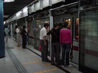 日本ほどではないけど通勤ラッシュ