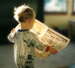 San Ramon Newspaper Reader
