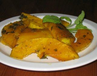roasted butternut squash with sage