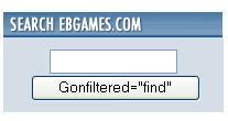 EBGames error in search box