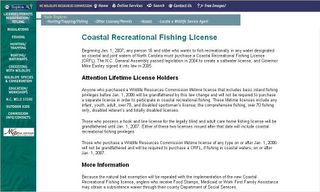 The flyfishmagazine blog may 2006 for Nc wildlife fishing license