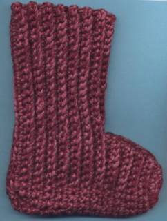 Crochet Patterns Only: Judiths Boot Style Slippers (corrected row 18 ...