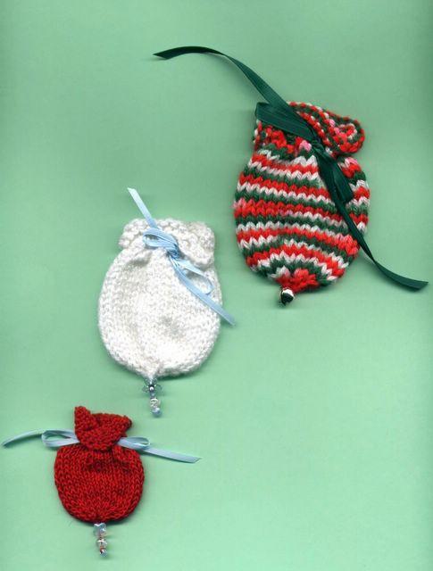 Knitting Pattern Ornament : Knitting Pattern Depot: Little Ornament Style Gift Bags