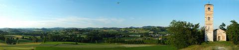 Panorama a San Nazario di Montechiaro (AT)