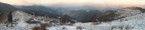 Panorama del Faiallo con la neve