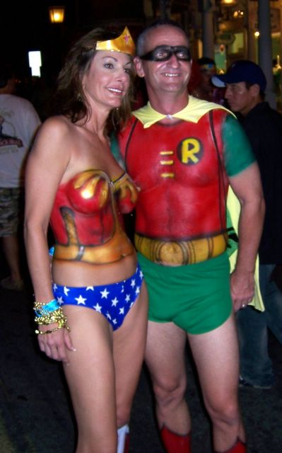 Wonder Woman and Robin body paint  sc 1 st  random_speak & random_speak: More Photos from Key West Fantasy Fest 2006