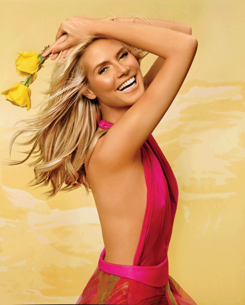 Heidi Klum - with yellow roses
