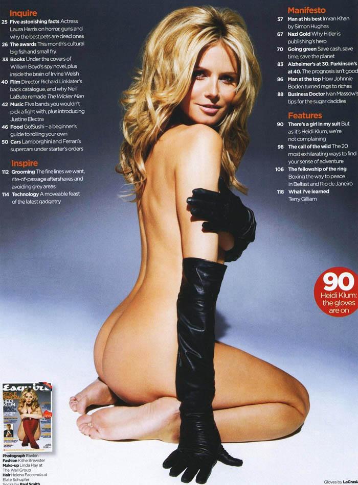 Heidi Klum in Esquire