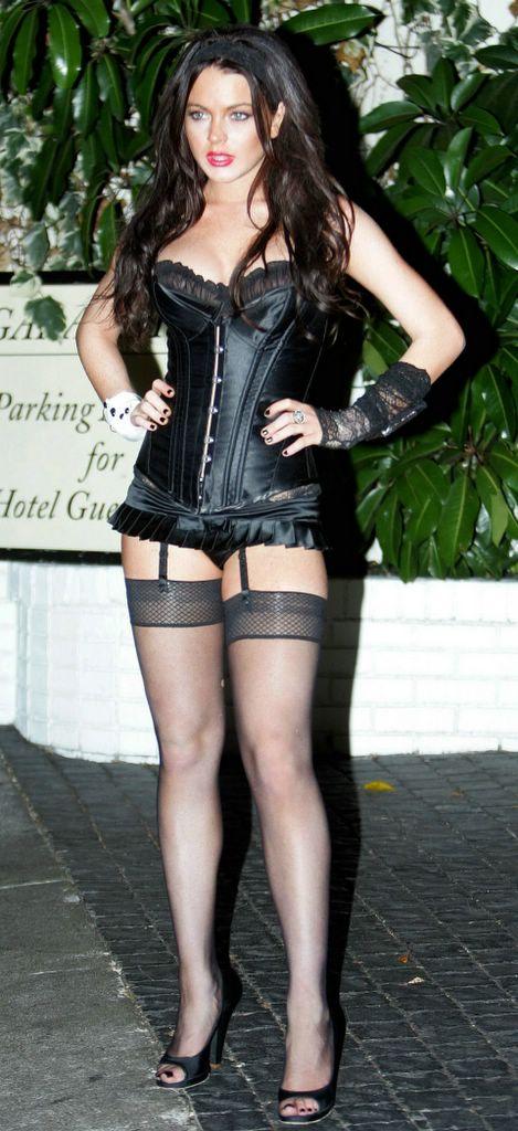 Lindsay lohan pantyhose
