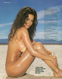 Brooke Burke in a yellow bikini