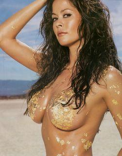 Brooke Burke in more gold foil
