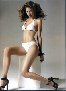 Doutzen Kroes in a white bikini