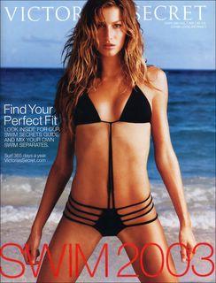 Gisele Bundchen in black bikini