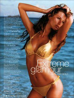 Gisele Bundchen gold bikini