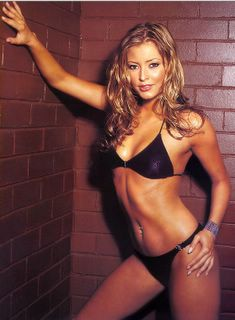 Holly Valance is sexy in a black bikini