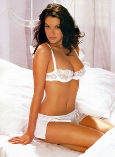 Kim Smith in white lingerie