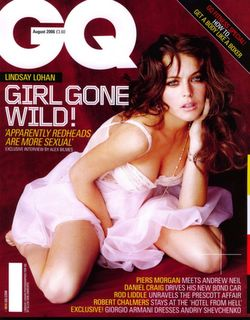 Lindsay Lohan on the cover of GQ