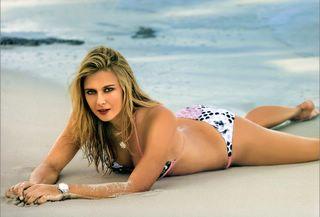 Maria Sharapova in a bikini