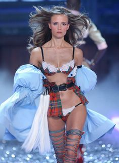Natasha Poly in lingerie at the Victorias Secret Fashion Show
