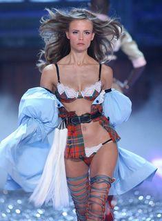 Natasha Poly in lingerie at the Victorias Secret Fashion Show