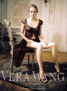 Ruslana Korshunova in Vera Wang lingerie