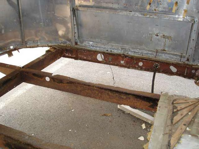 how to cut out rust and repair trailer