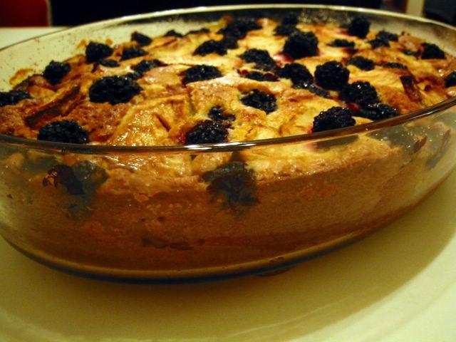 English Patis Apple Blackberry Cake