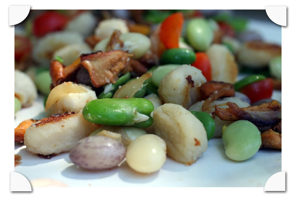 shelled bean salad