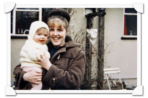 probably taken in about 1967 - my mum and me in bristol england