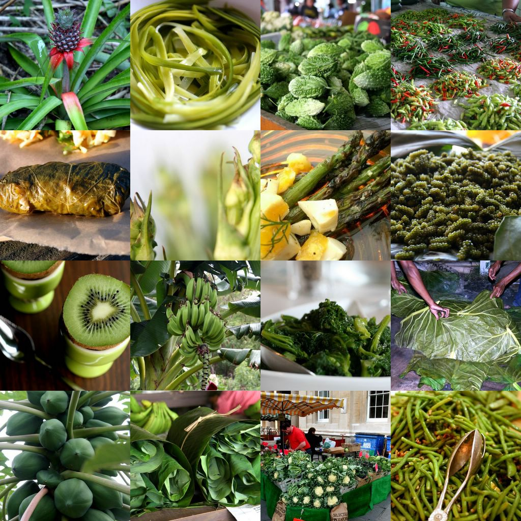 photograph picture collage green foods